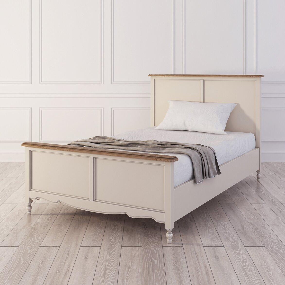Кровать односпальная 120*200 Leblanc, бежевая (полуоборот)