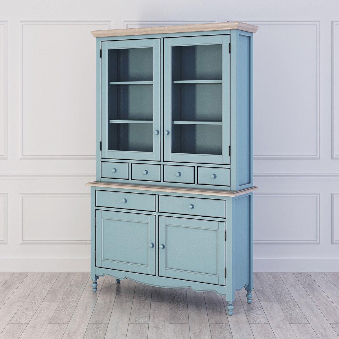 Буфет с ящиками и дверцами Leblanc, голубой (полуоборот)
