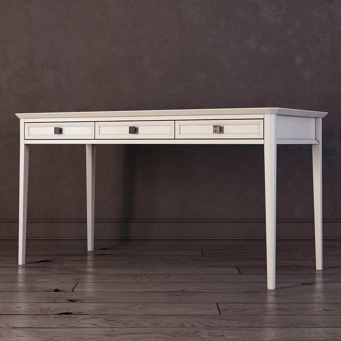 Письменный стол с 3-я ящиками Ellington, белый (полуоборот)