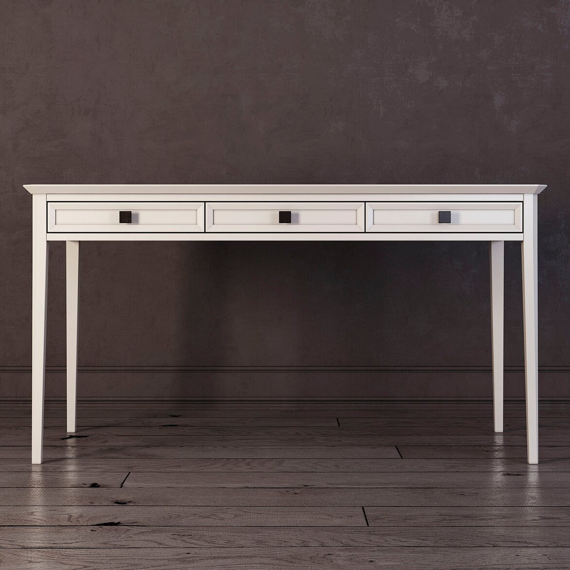 Письменный стол с 3-я ящиками Ellington, белый