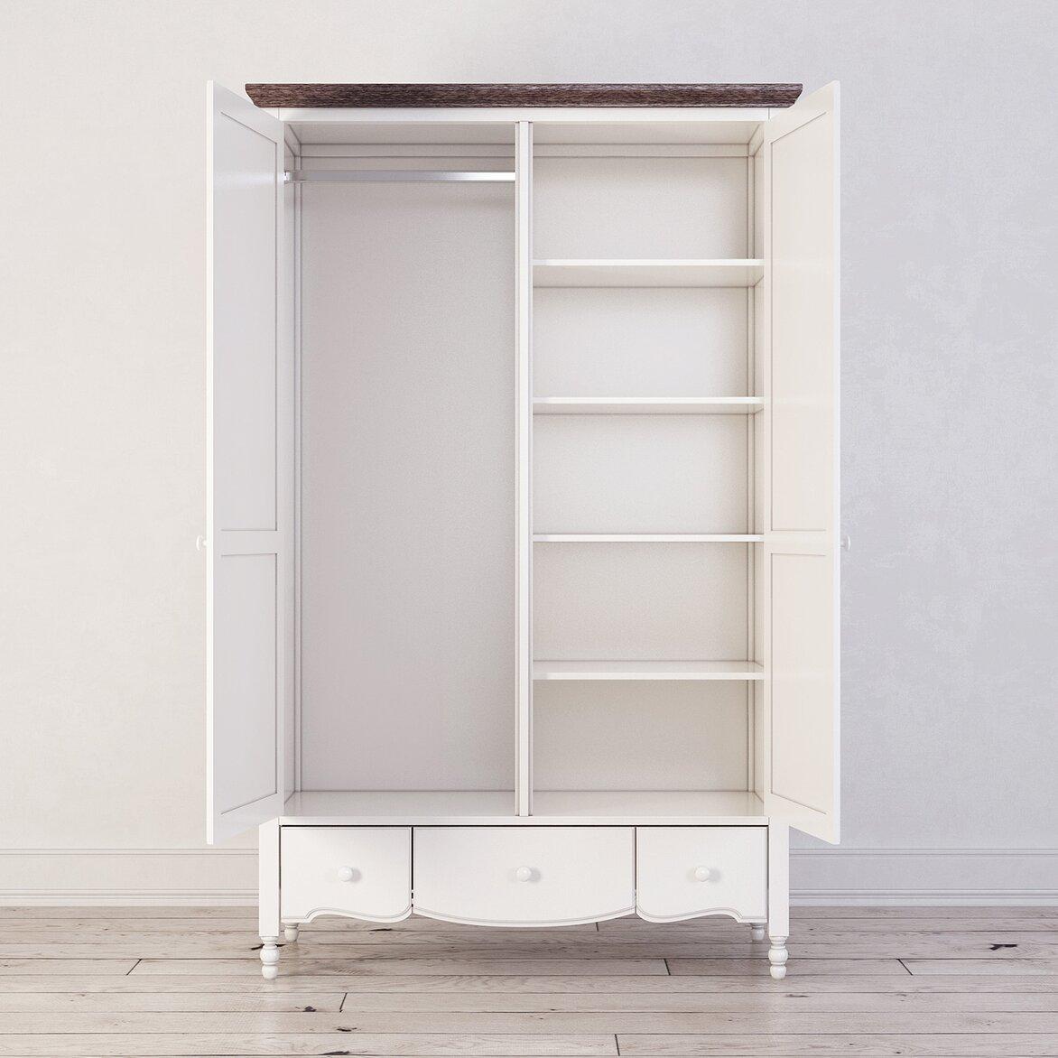 Шкаф двухстворчатый Leblanc, белый (открытый)