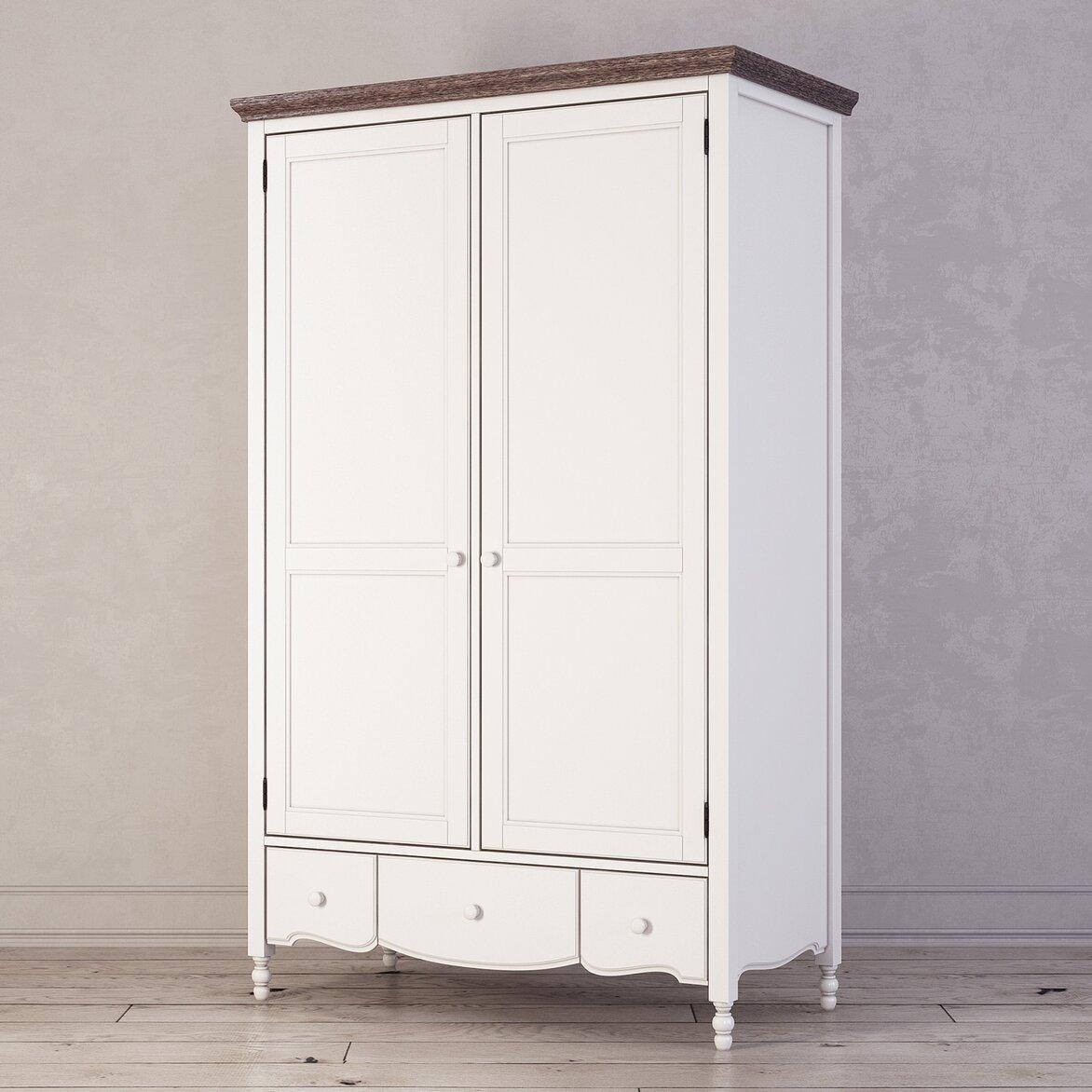 Шкаф двухстворчатый Leblanc, белый (полуоборот)