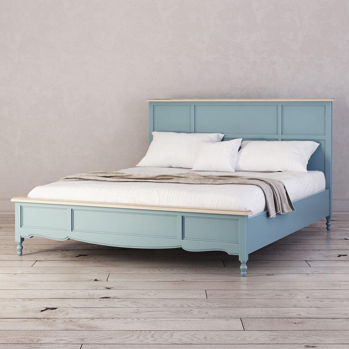 Кровать Leblanc двуспальная, голубая