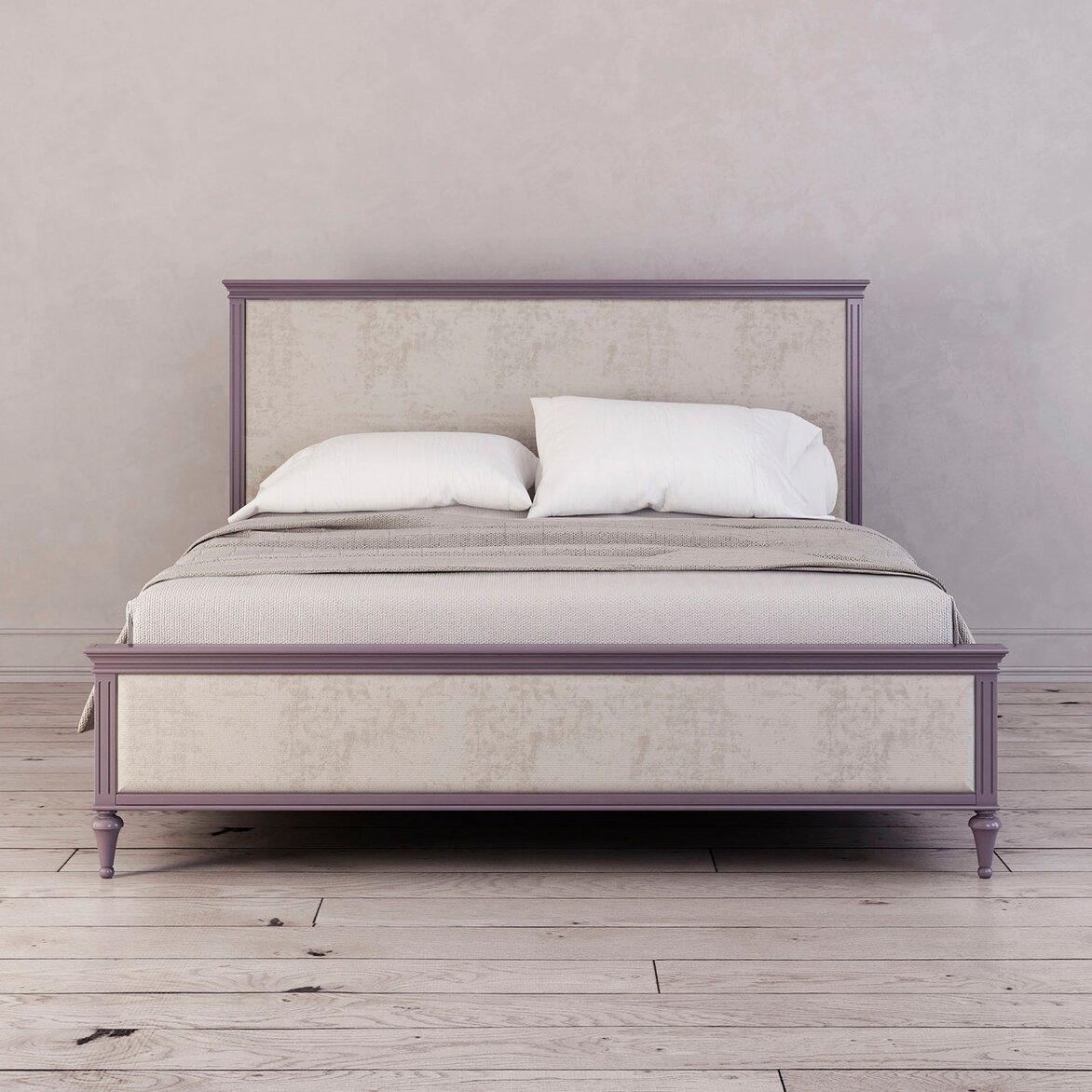 Кровать с мягким изголовьем Riverdi, орхидея