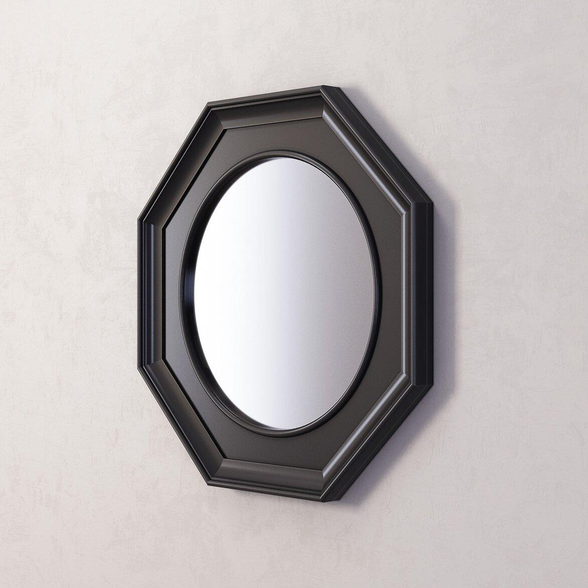 Зеркало Jersey, черное (полуоборот)