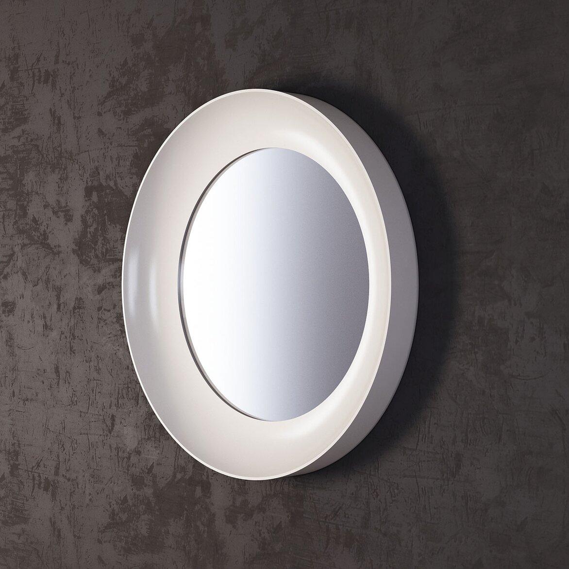 Зеркало Clayton, белое (полуоборот)