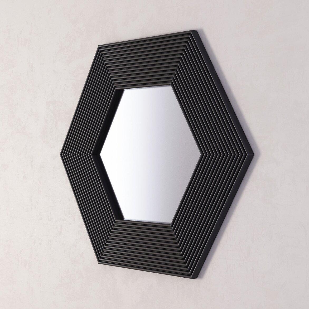 Зеркало Сorners black (полуоборот)
