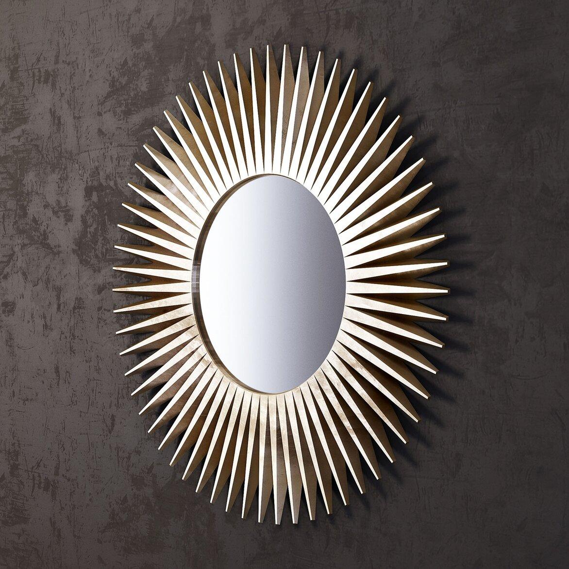 Зеркало-солнце Rays, золотое (полуоборот)