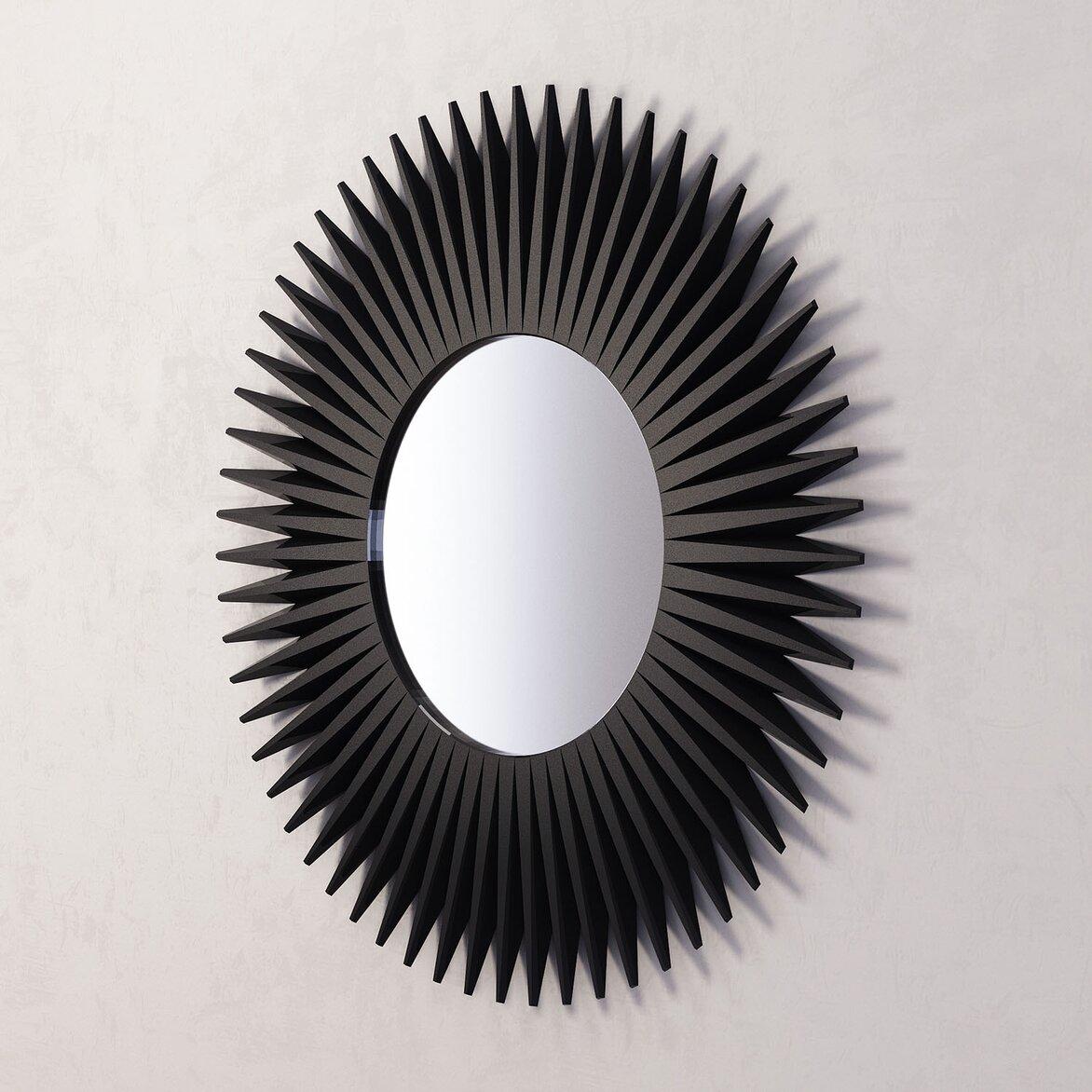 Зеркало-солнце Rays, черное (полуоборот)