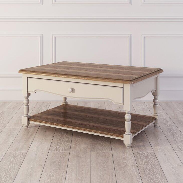 Кофейный столик Leblanc, бежевый (полуоборот)