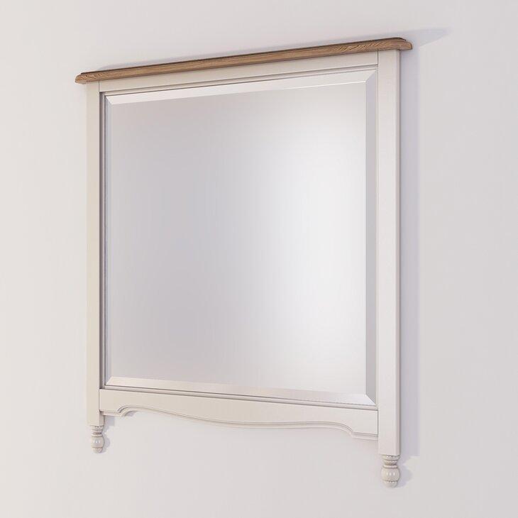 Зеркало прямоугольное Leblanc, бежевое