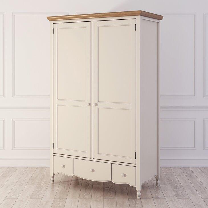 Шкаф двухстворчатый Leblanc, бежевый (полуоборот)