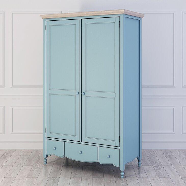 Шкаф двухстворчатый Leblanc, голубой (полуоборот)