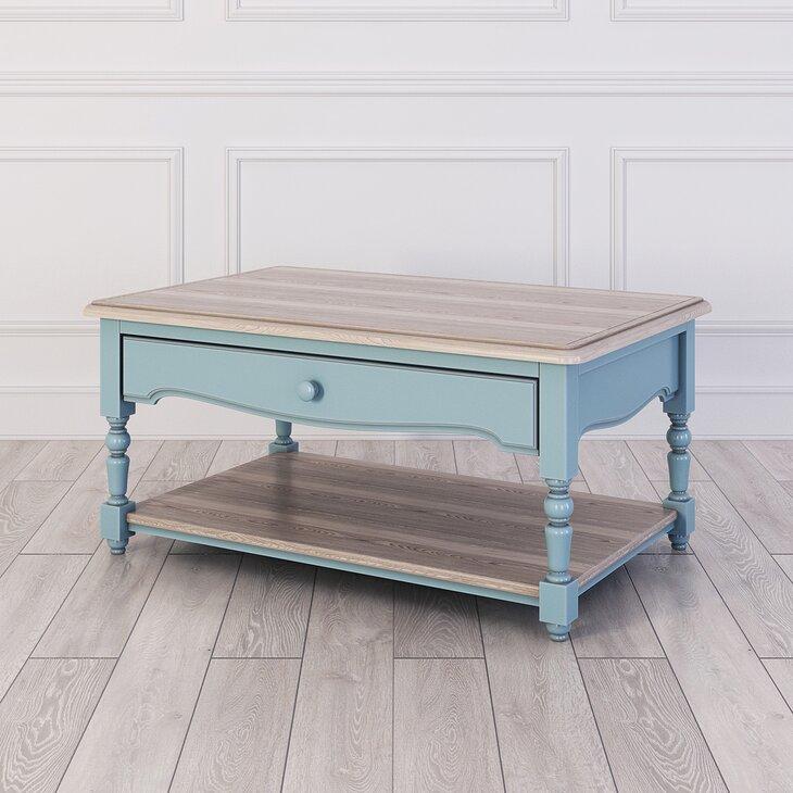 Кофейный столик Leblanc, голубой (полуоборот)