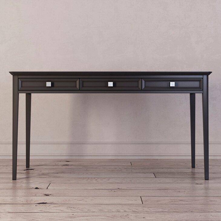 Письменный стол с 3-я ящиками Ellington, черный