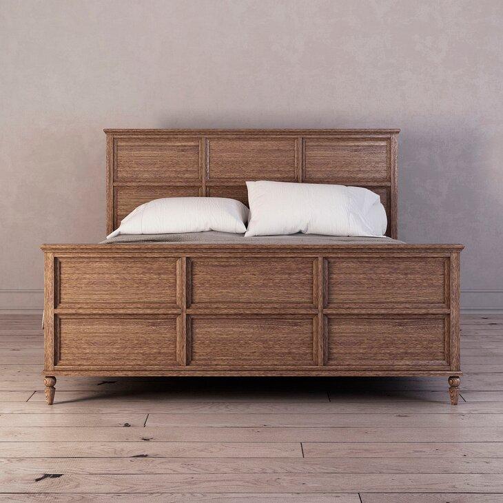 Кровать Vilton из дуба, с изножьем