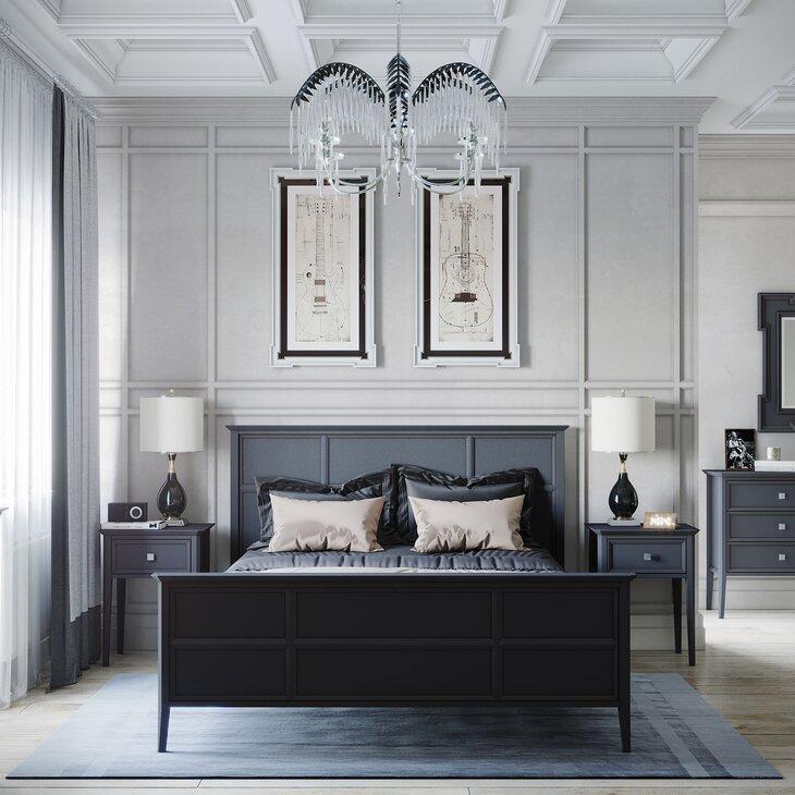 Спальня Ellington, черный графит