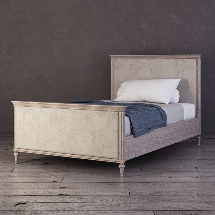 Кровать Riverdi односпальная, светлый дуб, с изножьем