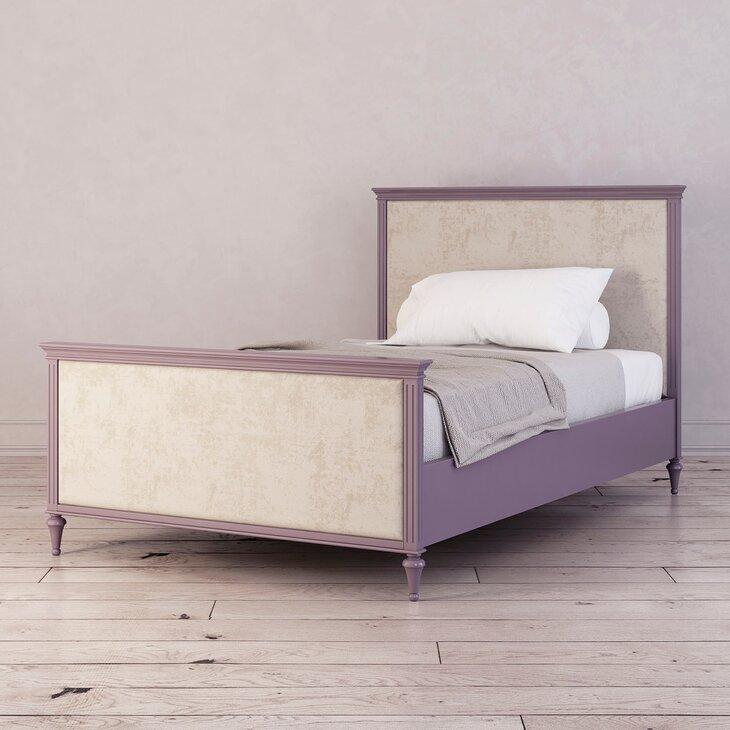 Кровать Riverdi односпальная, Орхидея, с изножьем