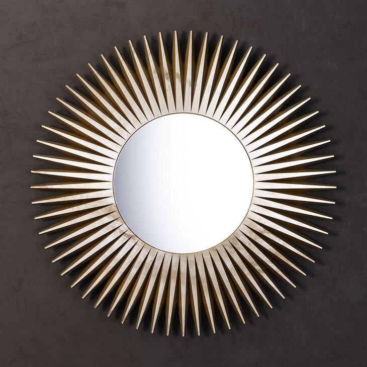 Зеркало-солнце Rays, золотое