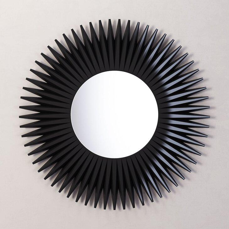 Зеркало-солнце Rays, черное